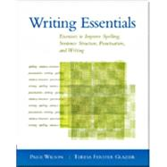 Writing Essentials Binding: Paperback Publisher: Heinle & Heinle Pub Publish Date: 2003/03/01 Language: ENGLISH Pages: 328 Dimensions: 9.00 x 7.25 x 0.50 Weight: 1.15 ISBN-13: 9781413000009