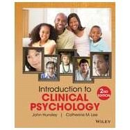 Introduction to Clinical Psychology by Hunsley, John; Lee, Catherine M., 9781118360019