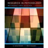 Research in Psychology: Methods and Design by Goodwin, C. James, 9781118360026