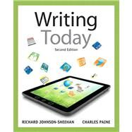 Writing Today by Johnson-Sheehan, Richard; Paine, Charles, 9780205210084