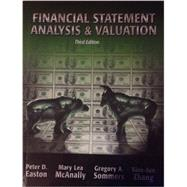 Financial Statements Analysis and Valution by Easton, McAnally, Sommers, Zhang, 9781618530097