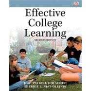 Effective College Learning by Holschuh, Jodi Patrick; Nist-Olejnik, Sherrie L., 9780205750139