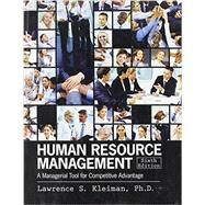 Human Resource Management: A Managerial Tool for Competitive Advantage by KLEIMAN, LAWRENCE, 9781465210142