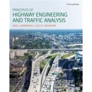 Principles of Highway Engineering and Traffic Analysis, 5th Edition by Mannering, Fred L.; Washburn, Scott S., 9781118120149