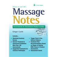 Massage Notes: A Pocket Guide to Assessment and Treatment by Castle, Ginger, 9780803600157