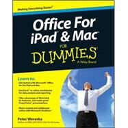 Office for Ipad and MAC for Dummies by Weverka, Peter, 9781119010173