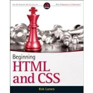 Beginning HTML and CSS by Larsen, Rob, 9781118340189