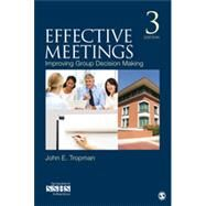 Effective Meetings by Tropman, John E., 9781483340210