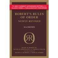 Robert's Rules of Order by Robert, Henry M., III; Honemann, Daniel H.; Balch, Thomas J.; Seabold, Daniel E. (CON); Gerber, Shmuel (CON), 9780306820212