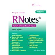 Rnotes: Nurse's Clinical Pocket Guide by Myers, Ehren, R.N., 9780803640245