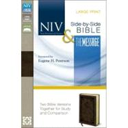 Holy Bible: New International Version, the Message, Side by Side, Two Bible Versions Together for Study and Comparison by Zondervan Publishing House, 9780310410263