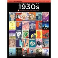 Songs of the 1930s: The New Decade Series With Optional Online Play-along Backing Tracks by Hal Leonard Publishing Corporation, 9781495000263