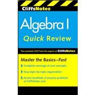 CliffsNotes Algebra I Quick Review by Bobrow, Jerry; Kohn, Edward, 9780470880289