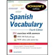 Schaum's Outline of Spanish Vocabulary by Schmitt, Conrad, 9780071830294