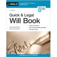Quick & Legal Will Book by Clifford, Denis, 9781413320305