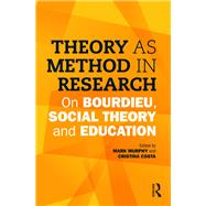 Theory as Method in Research: On Bourdieu, social theory and education by Murphy; Mark, 9781138900332