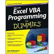 Excel Vba Programming for Dummies by Walkenbach, John, 9781118490372