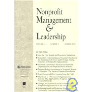 Nonprofit Management & Leadership, Volume 12 , No. 4 Summer 2002 , by Roger A. Lohmann, 9780787960391