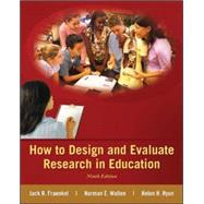 How to Design and Evaluate Research in Education by Fraenkel, Jack; Wallen, Norman; Hyun, Helen, 9780078110399