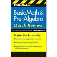 CliffsNotes Basic Math and Pre-Algebra Quick Review by Bobrow, Jerry, 9780470880401