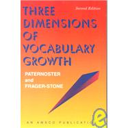Three Dimensions of Vocabulary Growth by Paternoste, 9781567650402