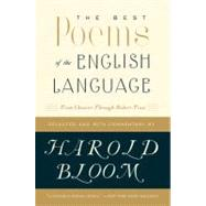 The Best Poems of the English Language by Bloom, Harold, 9780060540425