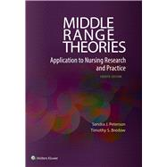 Middle Range Theories Application to Nursing Research by Peterson, Sandra J.; Bredow, Timothy S., 9780060000448