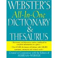 Webster's All-in-One Dictionary and Thesaurus by Merriam-Webster, 9781596950467