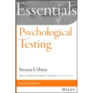 Essentials of Psychological Testing by Urbina, Susana, 9781118680483