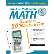 College Placement Math Success in 20 Minutes a Day by Learningexpress, 9781611030495