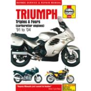 Haynes Triumph Triples & Fours Carburettor Engines '91 to '04 Repair Manual by Editors of Haynes Manuals, 9781785210495