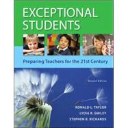 Exceptional Students: Preparing Teachers for the 21st Century by Taylor, Ronald; Smiley, Lydia; Richards, Stephen, 9780078110504