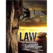 Law for Recreation and Sport Managers by COTTEN, DOYICE J, 9781465210548