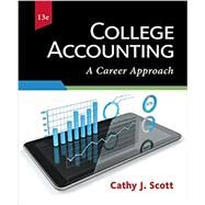 College Accounting: A Career Approach (with QuickBooks Online) by Cathy J. Scott, 9781337280563