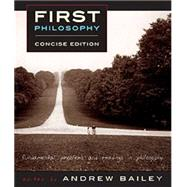 First Philosophy by Bailey, Andrew; Martin, Robert M. (CON), 9781554810574