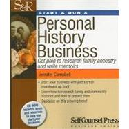 Start & Run a Personal History Business by Campbell, Jennifer, 9781770400580