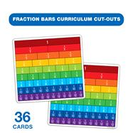 Fraction Bars Curriculum Cut-Outs by Carson-Dellosa Publishing Company, Inc., 9781483800592