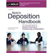 Nolo's Deposition Handbook by Bergman, Paul; Moore, Albert J., 9781413320596