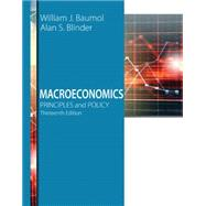 Macroeconomics Principles and Policy by Baumol, William J.; Blinder, Alan S., 9781305280601