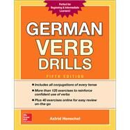 German Verb Drills, Fifth Edition by Henschel, Astrid, 9781260010602