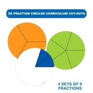 Fraction Circles Curriculum Cut-Outs by Carson-Dellosa Publishing Company, Inc., 9781483800608
