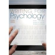 Writing for Psychology by Mitchell, Mark L.; Jolley, Janina M.; O'Shea, Robert P., 9781111840631