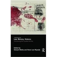 Law, Memory, Violence: Uncovering the Counter-Archive by Motha; Stewart, 9781138830639