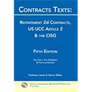 CONTRACTS TEXTS:RESTATEMENT 2D CONTRCT by Unknown, 9781888870640