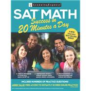 Sat Math Success in 20 Minutes a Day by Learningexpress, 9781611030648