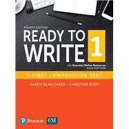 Ready to Write 1 with Essential Online Resources by Blanchard, Karen; Root, Christine, 9780134400655