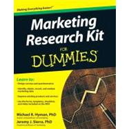 Marketing Research Kit For Dummies by Hyman, Michael; Sierra, Jeremy, 9780470520680