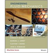 Engineering Fluid Mechanics by Elger, Donald F.; Lebret, Barbara A.; Crowe, Clayton T.; Roberson, John A., 9781118880685