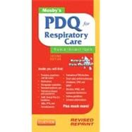Mosby's PDQ for Respiratory Care by Corning, Helen Schaar, 9780323100724