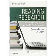 Reading Research by Davies, Barbara, Rn, Ph.D.; Logan, Jo, Ph.D., 9781771720731